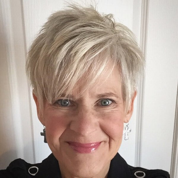 Spiky-Bangs-Pixie-for-Blondes-Over-50 Elegant Pixie Hairstyles For Women over 50