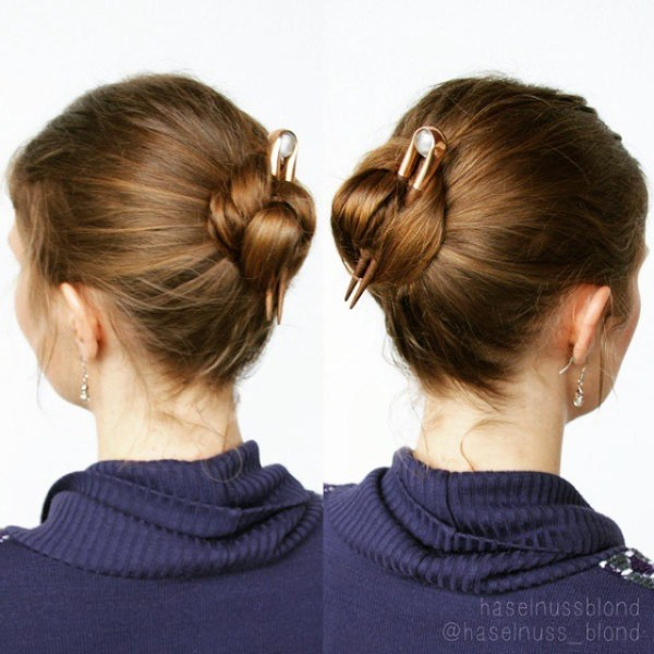 Tight-Casual-Bun Quick and Easy Short Hair Buns to Try