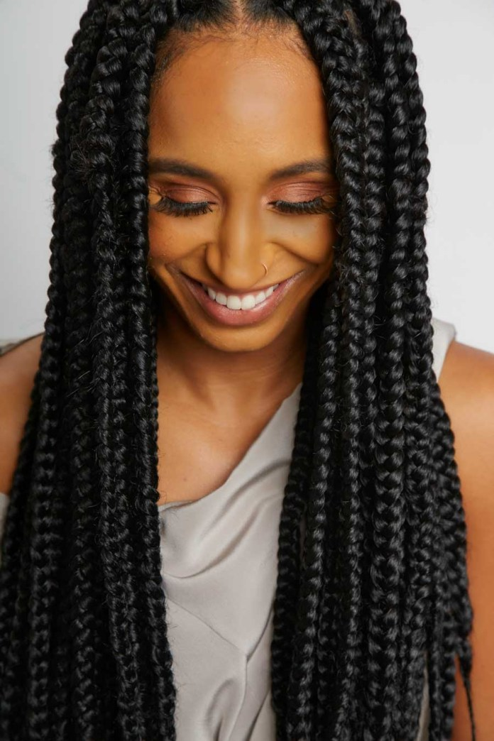 Unswerving-Box-Braids Endearing Jumbo Box Braids to Look Amazing