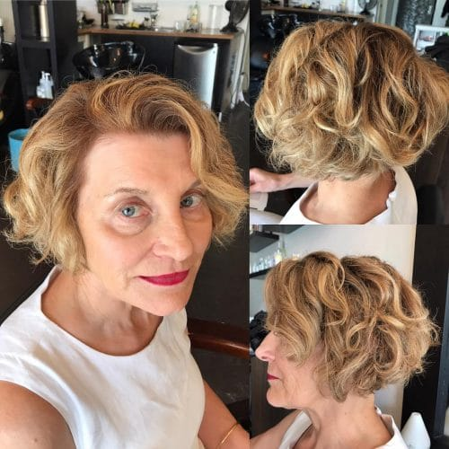 Wavy-ombre-bob 15 winning-looks short hairstyles for Women Over 40