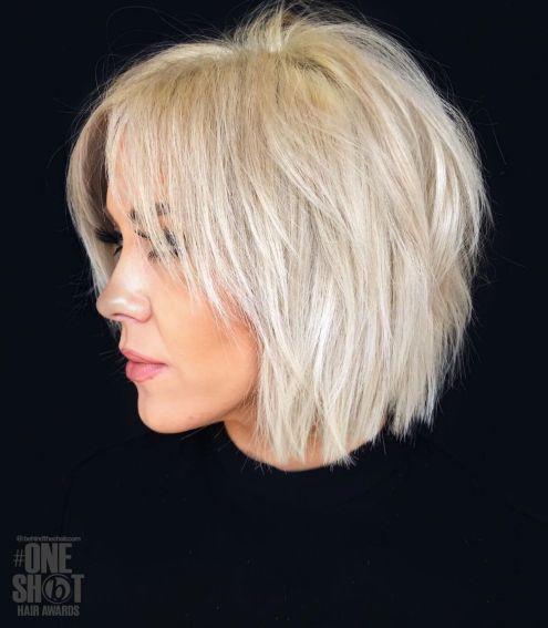 White-Blonde-Choppy-Piece-y-Bob-1 10 Fabulous Ideas for Short Choppy Haircuts