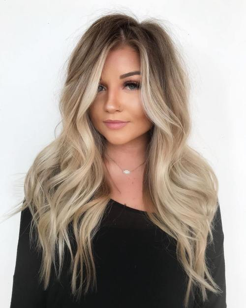 medmaid-hair-with-blonde-balayage Best Hairstyles for Heart-Shaped faces