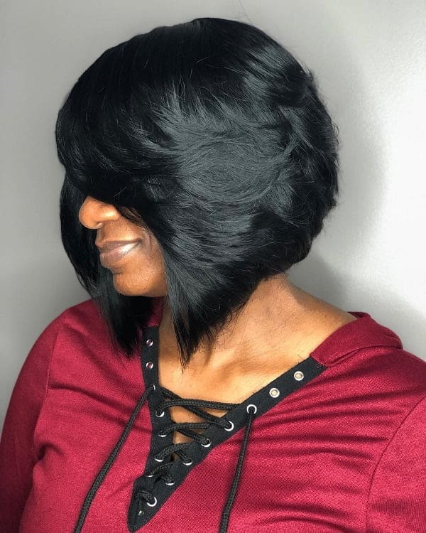 A-Line-Bob-for-Black-Women Best A-Line Bobs You Need to Try (Trending for 2020)