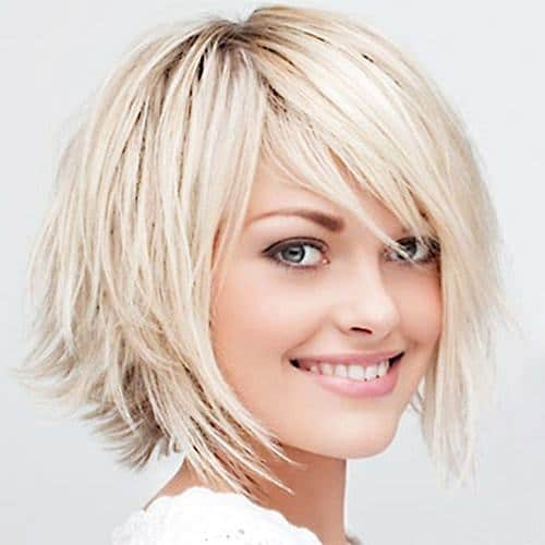 Asymmetrical-shag Cutest Bob Haircuts for Women to Bump Up The Beauty
