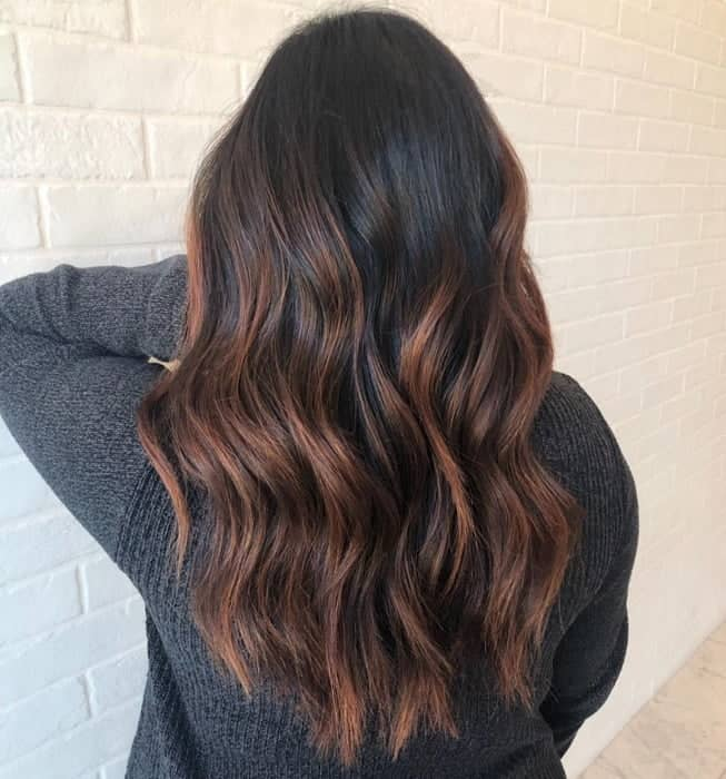 Auburn-Highlights Gorgeous Black Hairstyles with Highlights