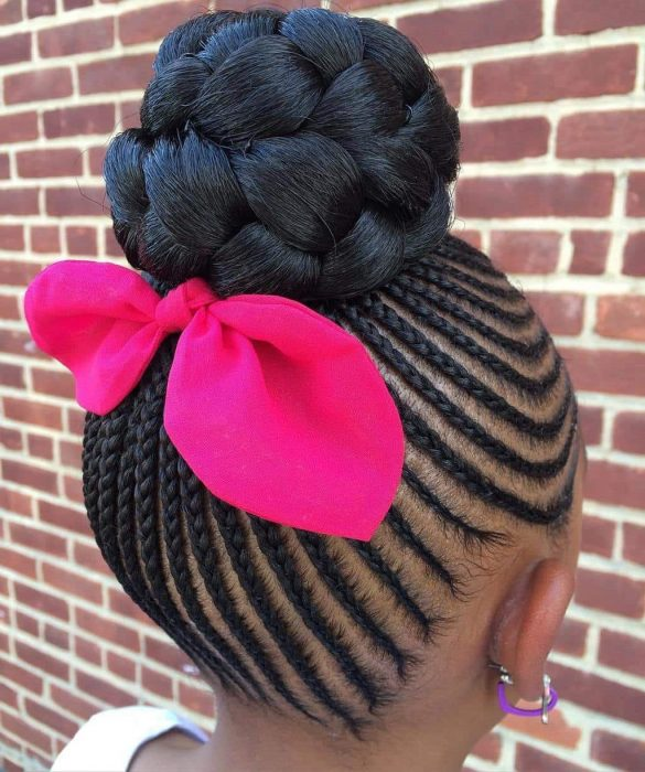 Bigger-Bun Cutest Braided Hairstyles for Little Girls Right Now