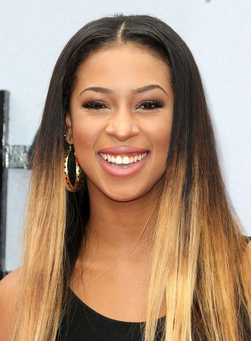 Black-to-Blonde-Ombre Enthralling Long and Straight Hair Ombre for Women