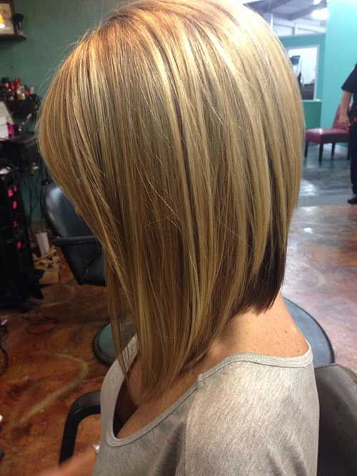 Blond-Rounded-Bob Most Hottest and Sexiest Long Bob Haircuts