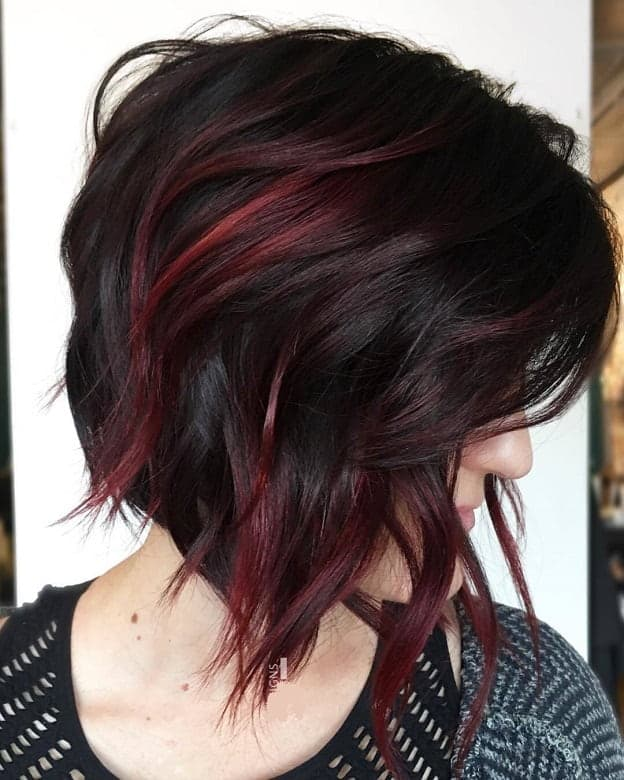 Bob-with-Red-Highlights Amazing Medium Length Bob Hairstyles to Explore