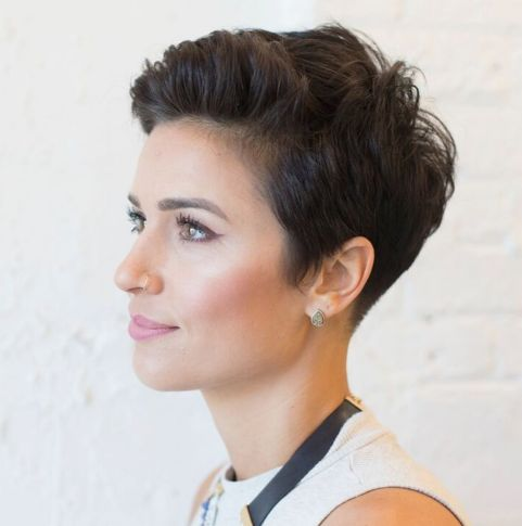 Boyish-Tapered-Pixie-Cut 12 Pixie Haircuts for Thick Hair that will inspire your next cut