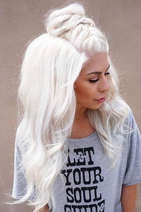 Braided-Mohawk Icy Blonde Hairstyles That'll Convince You to Go White