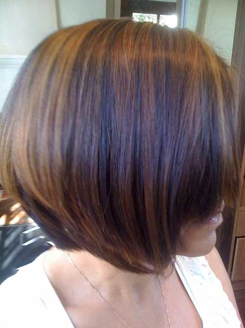 Brown-with-Caramel-Highlighted-Bob-Hair Nice Short Bobs for Black Women