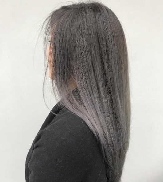 Charcoal-Grey-Ombre Enthralling Long and Straight Hair Ombre for Women