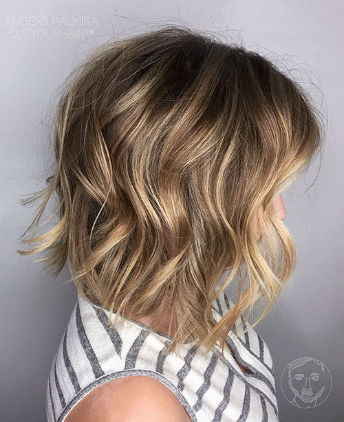 Choppy-Layered-Bob-Hairstyle Newest And Perfect Lob Styles