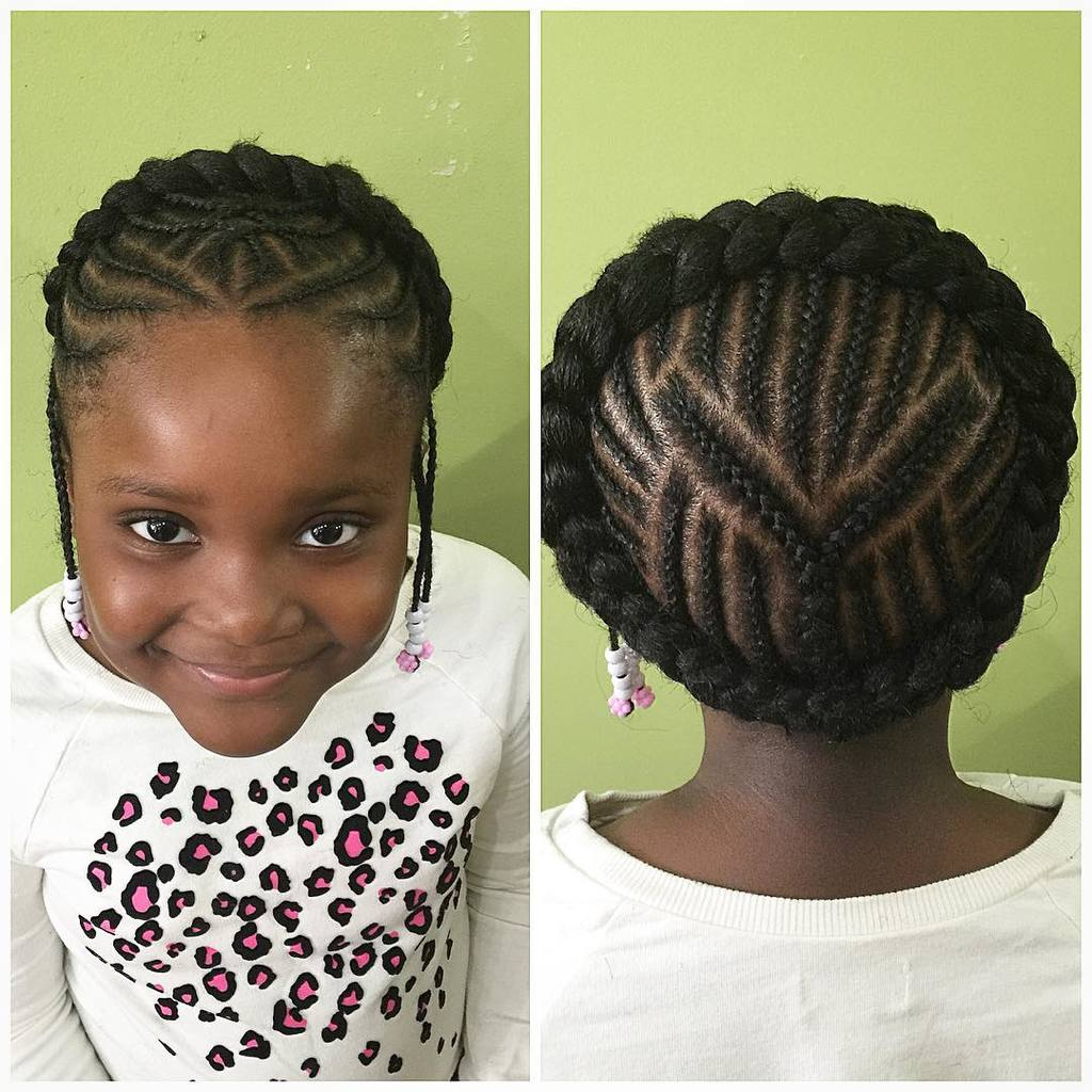 Chunky-Braided-Crown Cutest Braided Hairstyles for Little Girls Right Now