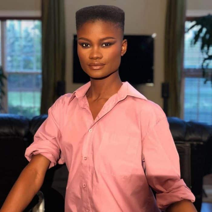 Classic-Flat-Top Bold Shaved Hairstyles for Black Women