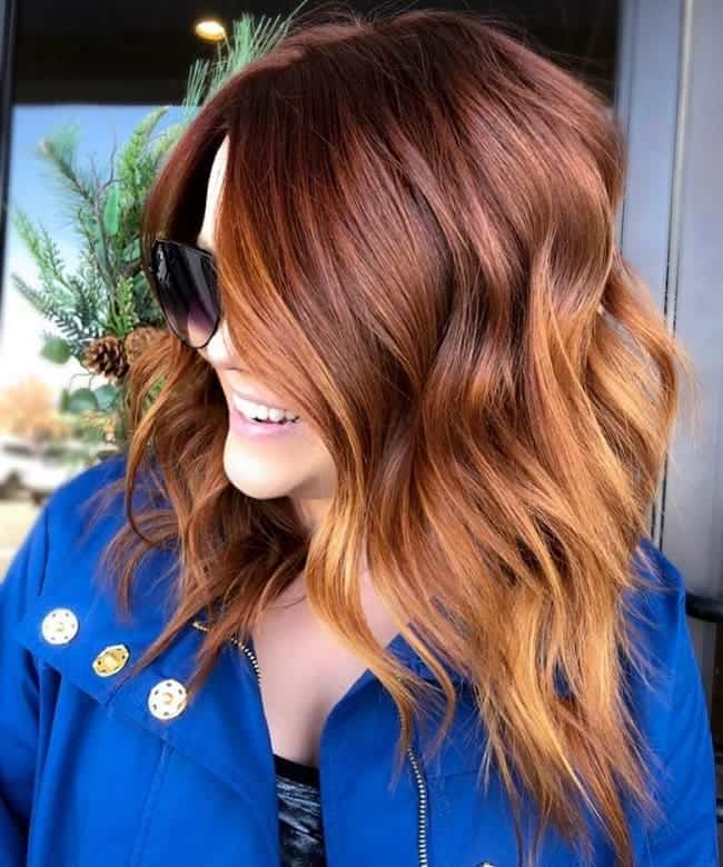 Copper-Highlights Balayage Highlights: Top 10 Styles to Brighten Your Look
