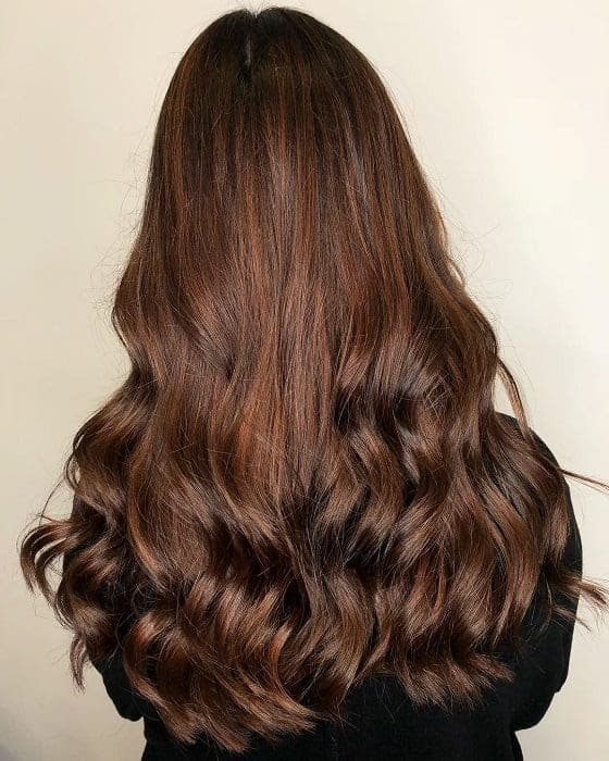 Dark-to-Light-Chestnut-Brown-Hair- Enthralling Long and Straight Hair Ombre for Women