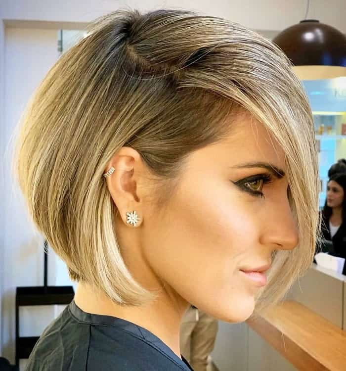 Dramatic-Bob-Balayage Best A-Line Bobs You Need to Try (Trending for 2020)