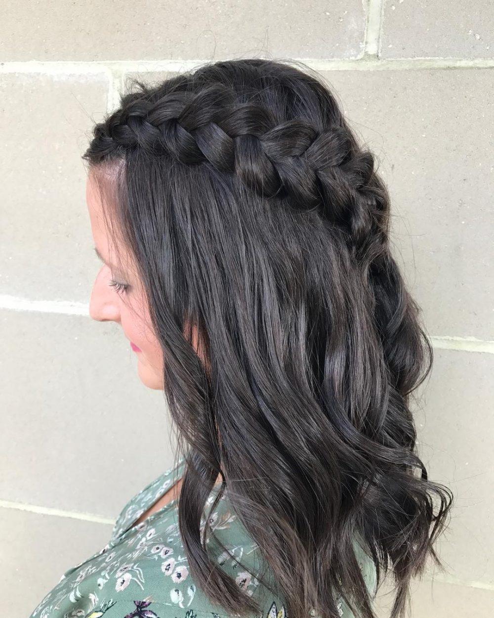 Dutch-Braid Cute Medium Length Hairstyles to Glam Up Your Look