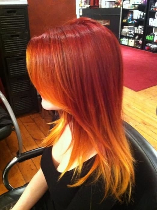 Fire-Ombre-1 Enthralling Long and Straight Hair Ombre for Women