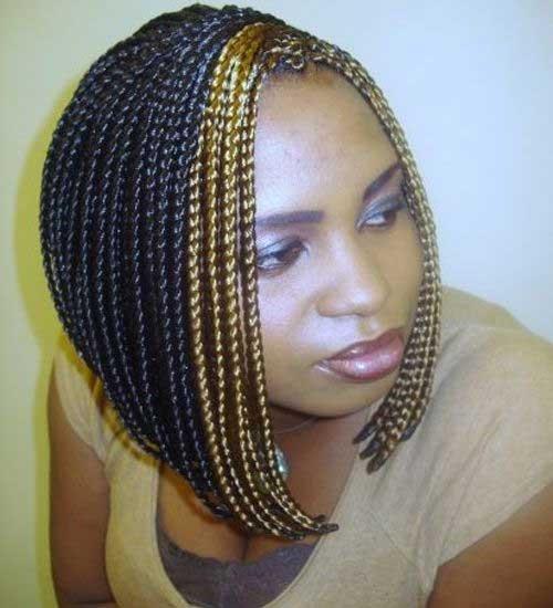 Flashy-Short-Bob-with-Braids-for-Black-Women Nice Short Bobs for Black Women