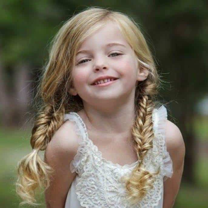 Fluffy-Fishtail-Braids Cutest Braided Hairstyles for Little Girls Right Now