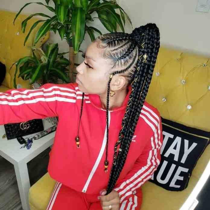 Fulani-Braids-Pony Stunning Ponytail Hairstyles for Black Women