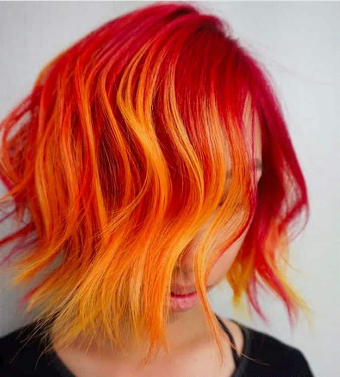 Funky-Orange-to-Yellow-Ombre Orange Ombre Hair – 12 Revolutionary Ideas to Rock
