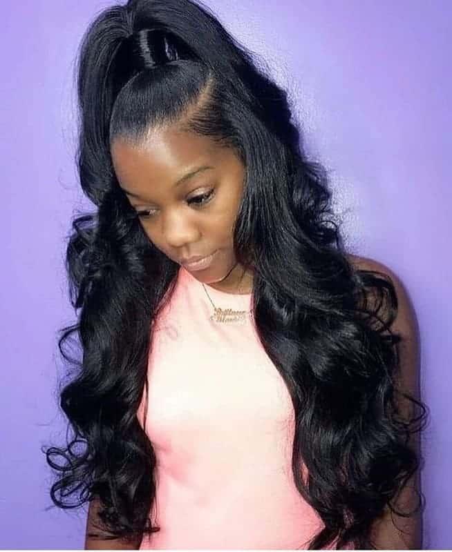 Genie-Ponytail Stunning Ponytail Hairstyles for Black Women