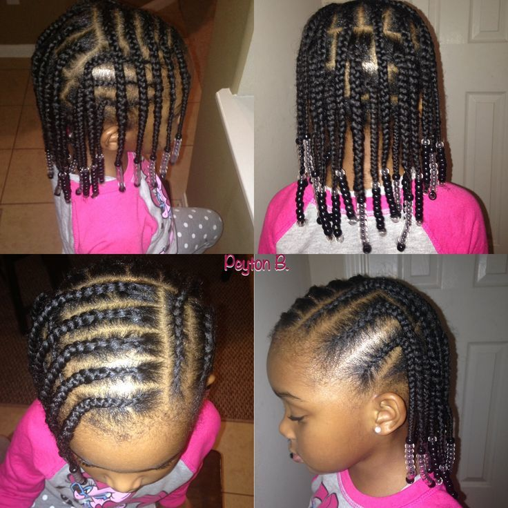 Geometric-Hair-with-Beads Cutest Braided Hairstyles for Little Girls Right Now