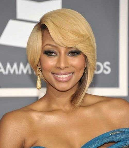 Gorgeous-Asymmetrical-Blonde-Bob-for-Black-Women Nice Short Bobs for Black Women