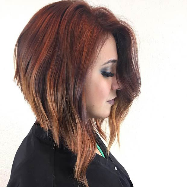 Gradual-Highlight-with-Asymmetrical-Bob Most Hottest and Sexiest Long Bob Haircuts