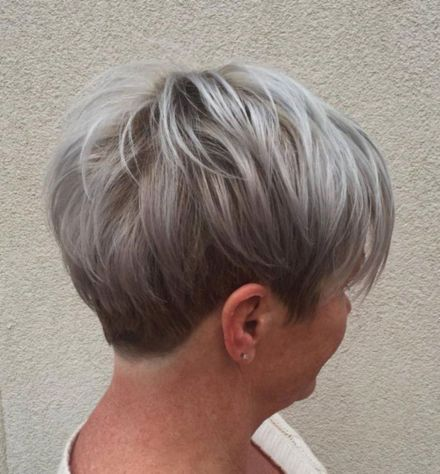 Gray-Blonde-Pixie 12 Trendy Pixie haircut ideas for your next cut