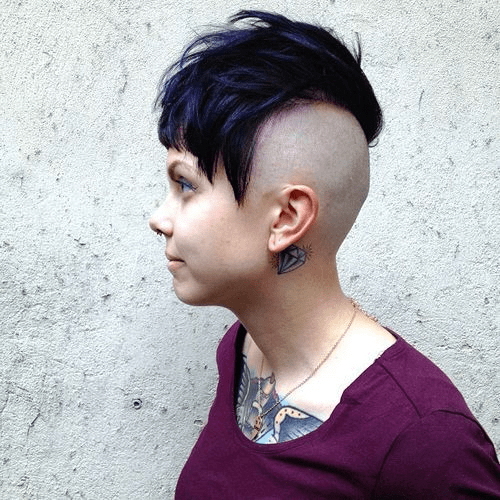 Half-Shaved-Head-Hairstyles-11 Brilliant Half Shaved Head Hairstyles for Young Girls