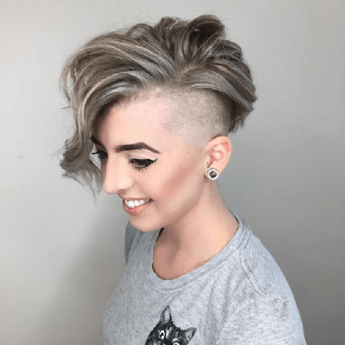 Half-Shaved-Head-Hairstyles-6 Brilliant Half Shaved Head Hairstyles for Young Girls