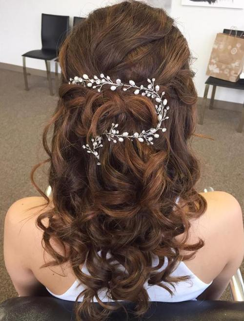 Half-Up-Curls-for-Wedding 15 Stylish Half Up Half Down Wedding Hairstyles for Brides