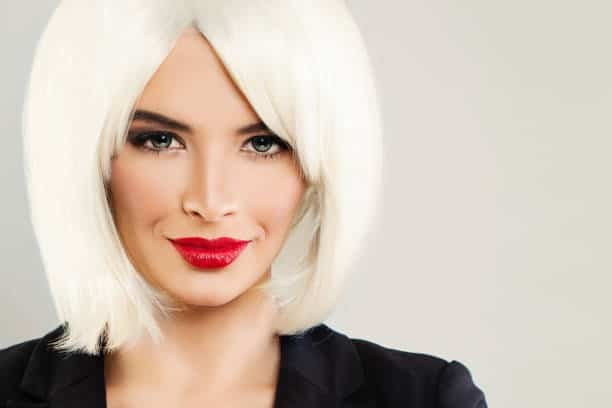 How-to-Style-Blonde-Bob-with-Bangs-Weave Flawless Blonde Bob with Bangs Hairstyles to Try 2020