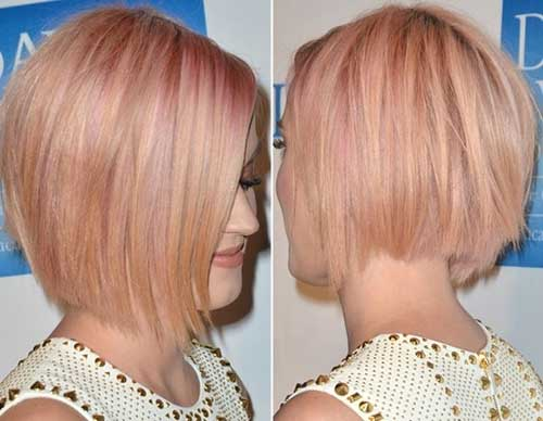 Katy-Perry-Blonde-Pink-Short-Bob-Hair Short Blonde And Pink Hairstyles