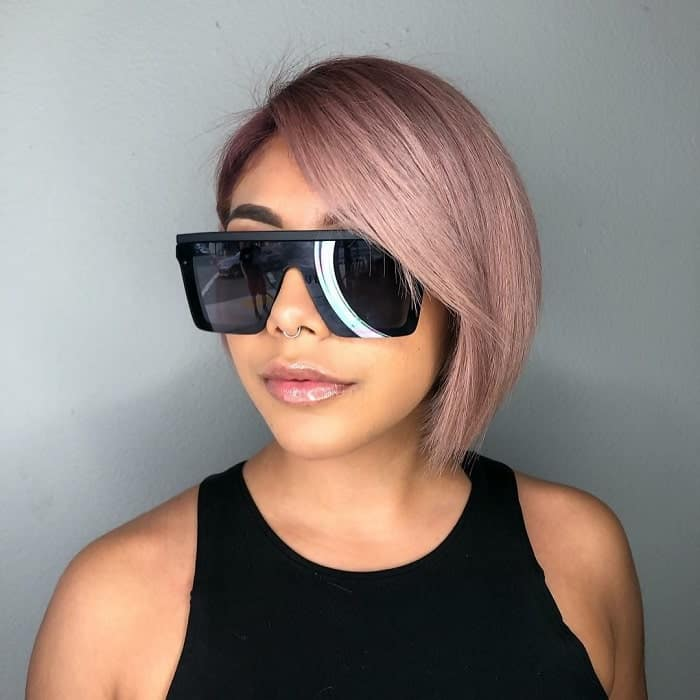 Line-Bob-with-Side-Bangs Best A-Line Bobs You Need to Try (Trending for 2020)
