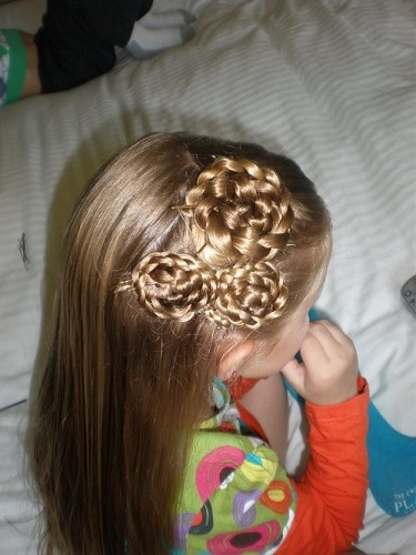 Little-Girl's-Braids-with-Beads-20 How to Style Little Girl's Braids with Beads