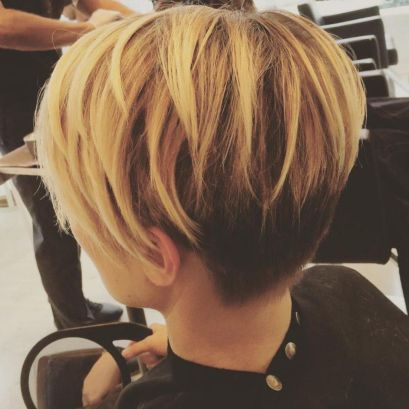 Long-Honey-Blonde-and-Black-Pixie 10 On-trend Pixie haircuts in 2020