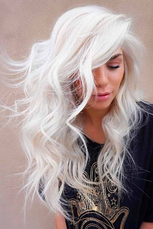 Long-and-Free Icy Blonde Hairstyles That'll Convince You to Go White