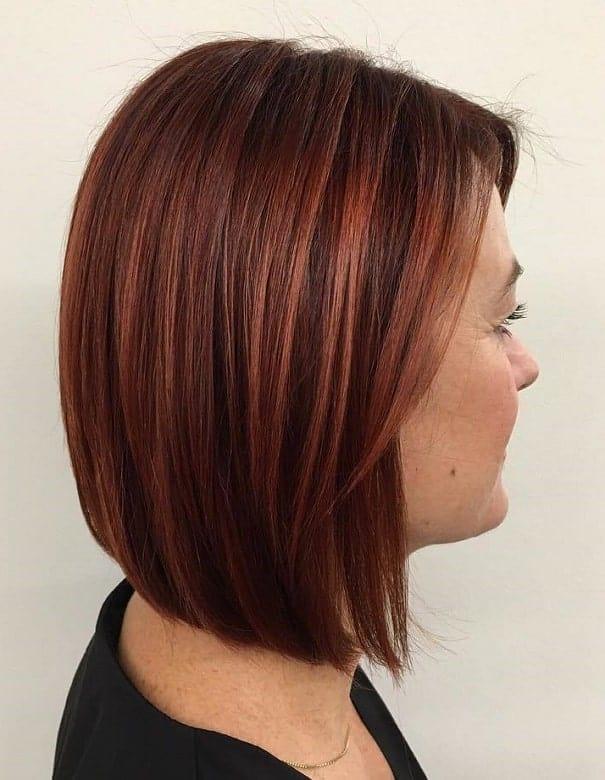 Medium-Auburn-Hair-Bob Amazing Medium Length Bob Hairstyles to Explore