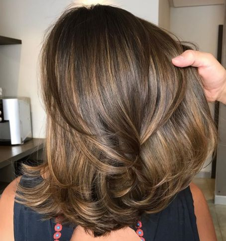 Medium-Hairstyle-with-Layered-Ends Gorgeous haircuts for thick hair of medium length in 2020