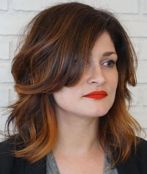 Medium-Messy-Layered-Hairstyle 12 Best hairstyles for square faces