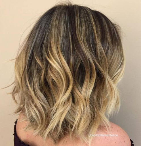 Medium-Shaggy-Waves Gorgeous haircuts for thick hair of medium length in 2020