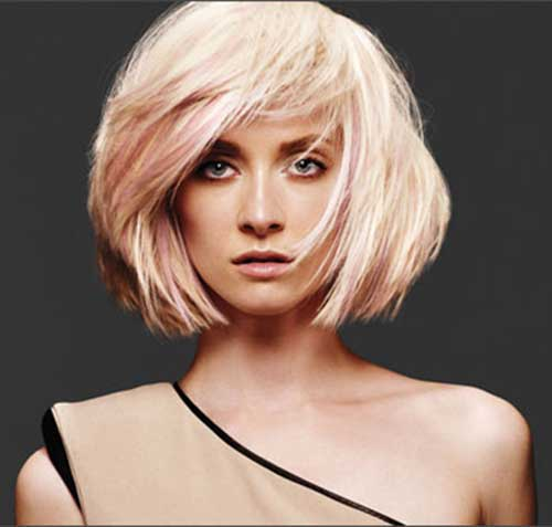 Messy-Pink-And-Blonde-Short-Bob-Hair Short Blonde And Pink Hairstyles
