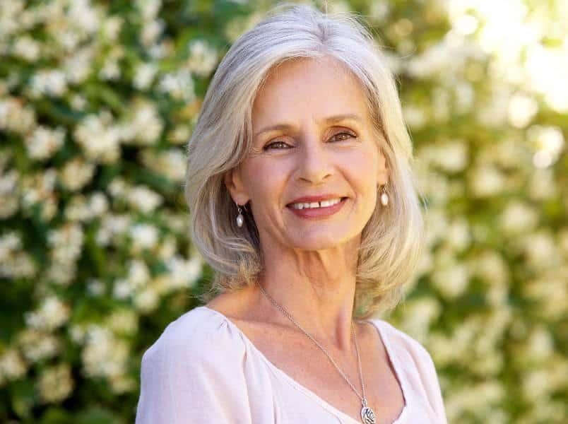 Natural-Lob Loveliest Medium Length Hairstyles for Older Women