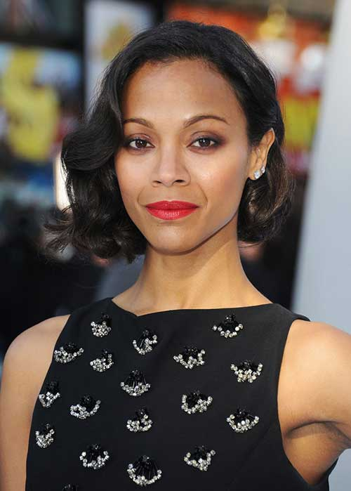 Nice-Black-Bob-Hairstyle-with-Curls Nice Short Bobs for Black Women